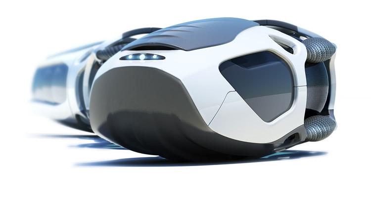 Industrial Design - Q.R.U. Wüstenrettung Roboterschlange Perspektive- Florian Mack