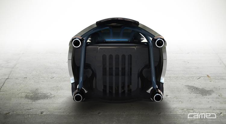 Industrial Design - Q.R.U. Wüstenrettung Roboterschlange rear View- Florian Mack