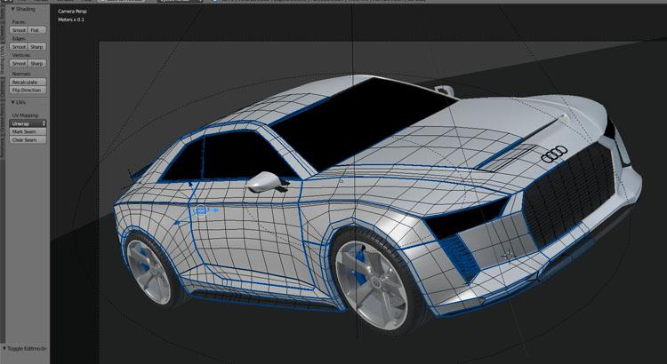 Blender for Industrial Designer - Audi Quattro - Florian Mack