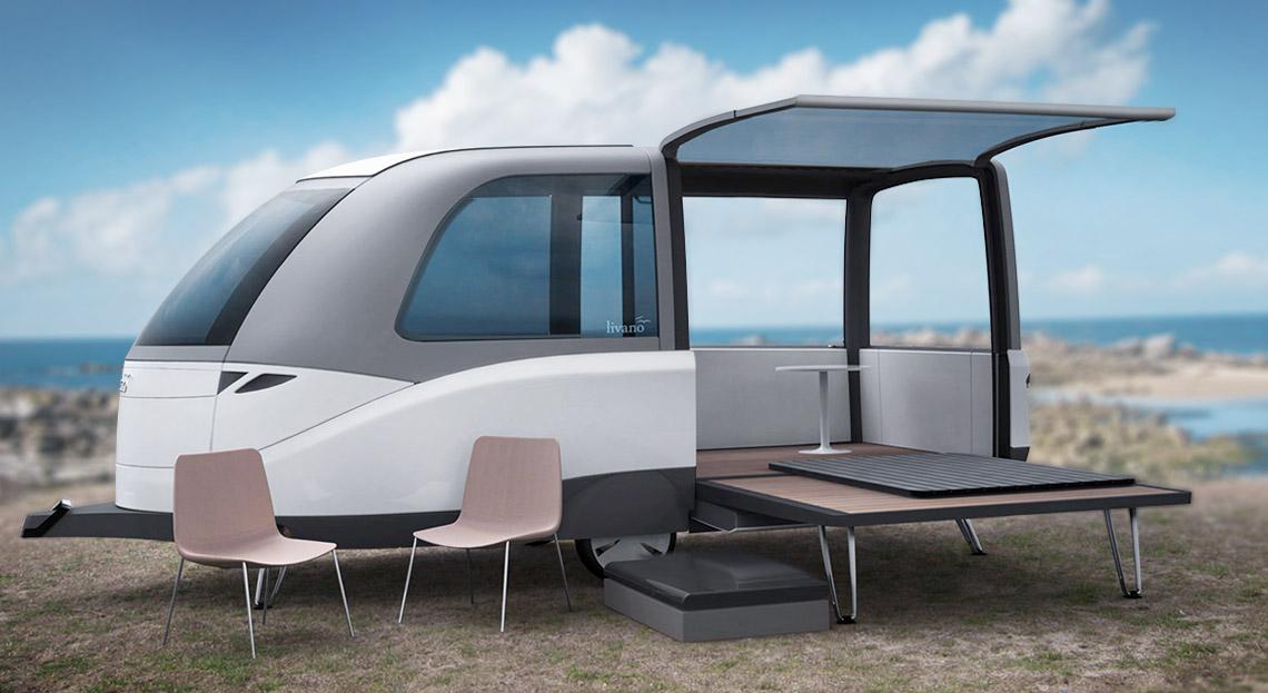 livano neu gedachtes wohnwagen design florian mack. Black Bedroom Furniture Sets. Home Design Ideas