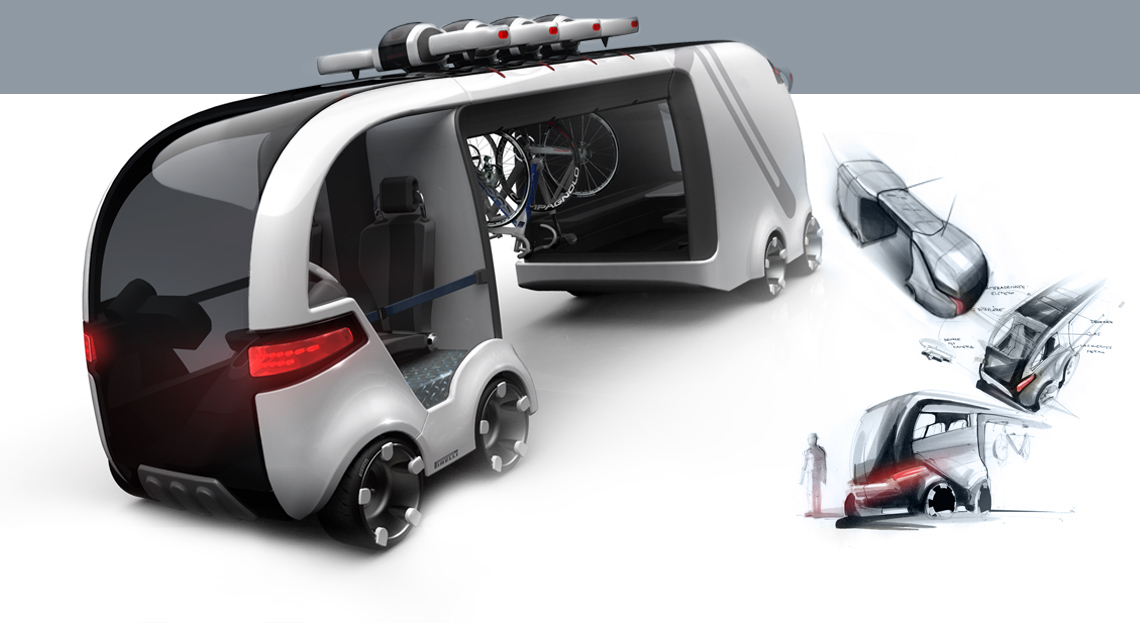 Industrial Design - Besenwagen Tour de France Konzept - Florian Mack