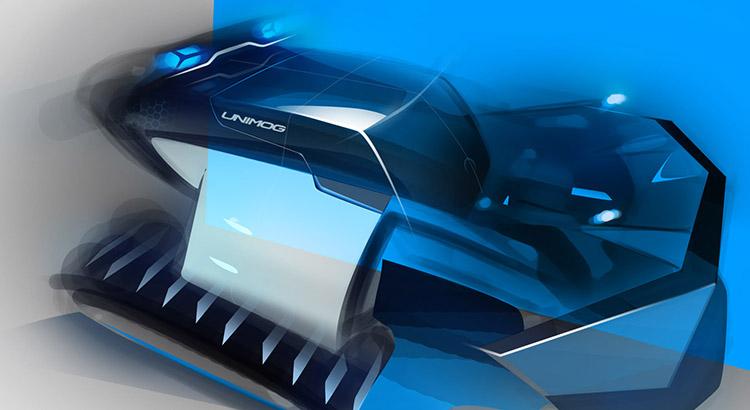 Industrial Design - IZE Schneeräumfahrzeug Designsketch - Florian Mack