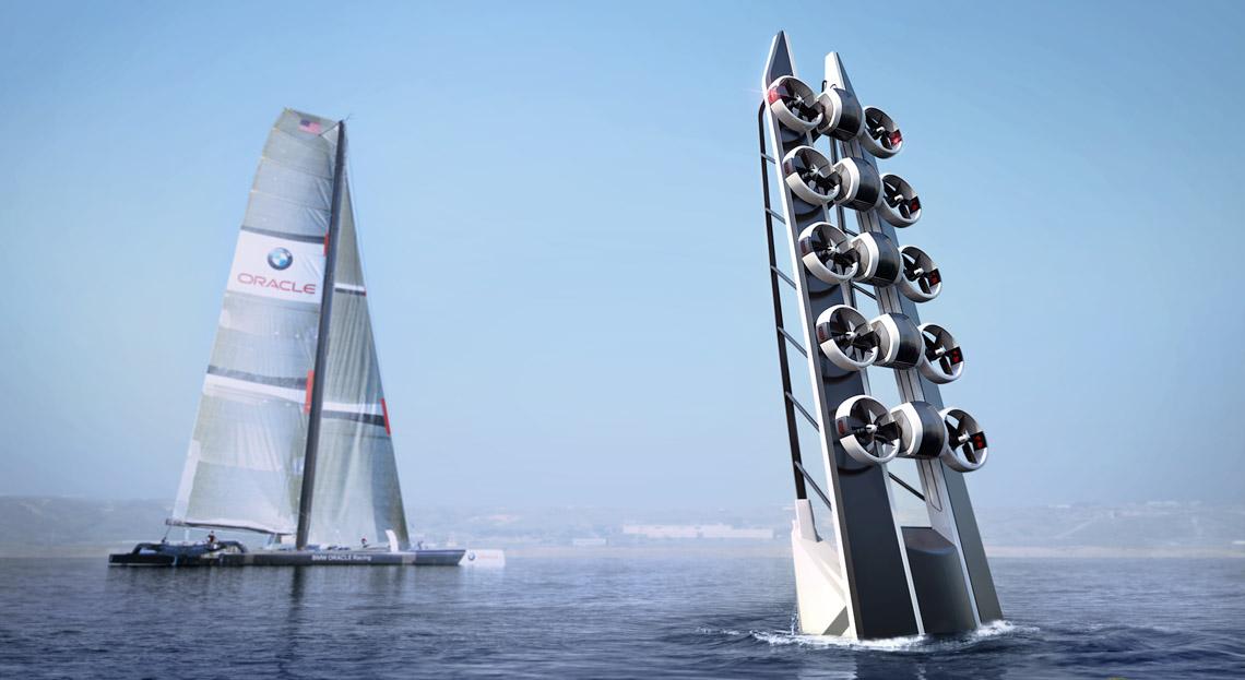 Industrial Design - Tender America's Cup mit Drone Konzept- Florian Mack
