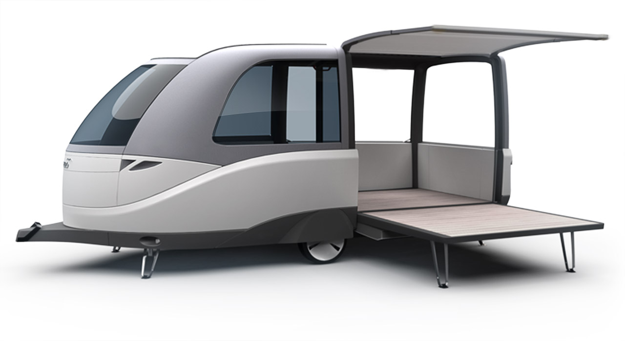Transportation Design - Caravan Wohnwagen Konzept - Florian Mack