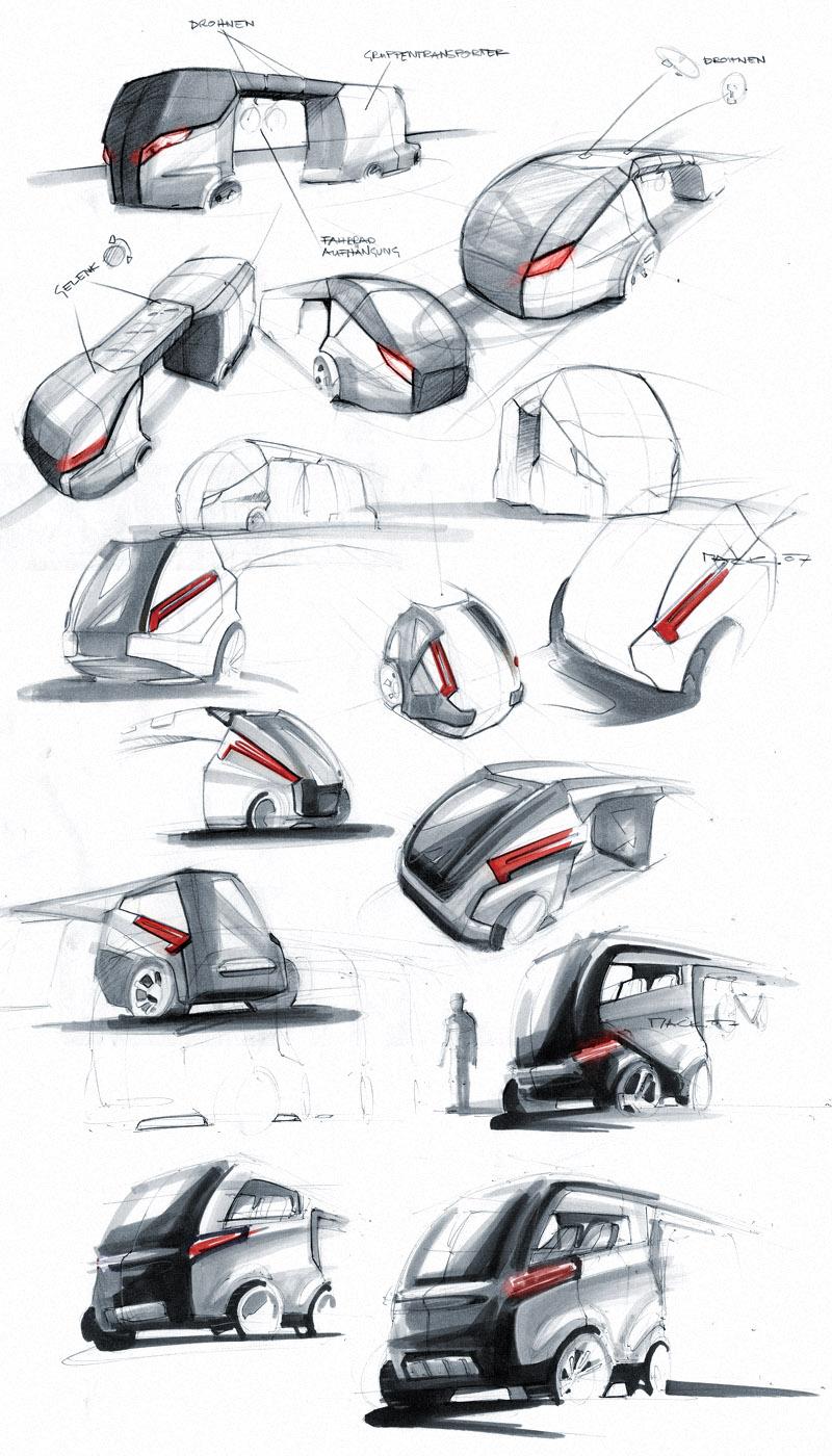 Industrial Design Sketch - Florian Mack - Besenwagen
