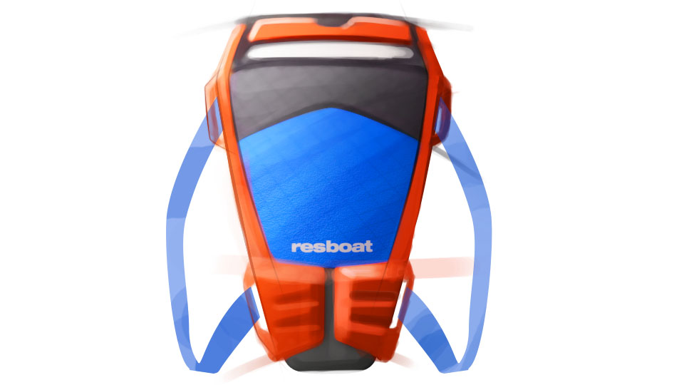 Industrial Design - Rescueboat Rettungsboot Konzept - Florian Mack